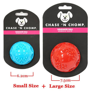 Dog Squeaking Bouncing Ball Durable Bite Resistant for Small to Large Dogs