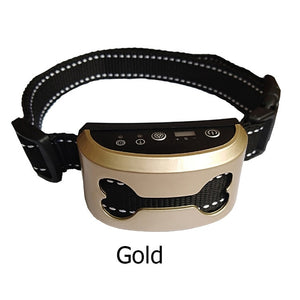 Pet Dog Anti Bark Collar Waterproof Intelligent Ultrasonic Stop Barking Dog Training Collars