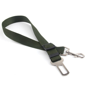 Dog or Cat Car Seat Belt Adjustable Harness with Lead Leash 5 Colors