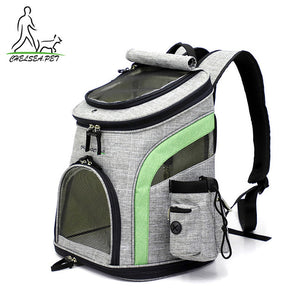 Dog Bag Breathable Dog Backpack Large Capacity Cat Bag Portable Outdoor Travel Pet Basket Size Medium & Large