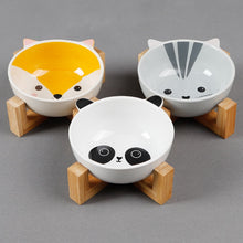 Load image into Gallery viewer, Ceramic Pet Bowls with Stand Dog/Cat Water Bowl Food Dish Heavy Weighted & No Tip Over Dishwasher Safe