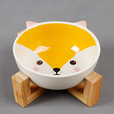 Ceramic Pet Bowls with Stand Dog/Cat Water Bowl Food Dish Heavy Weighted & No Tip Over Dishwasher Safe