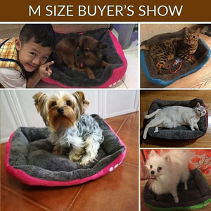 Dog/Cat Bed Waterproof Bottom Soft Fleece 8 Colors Sizes S-XXXL