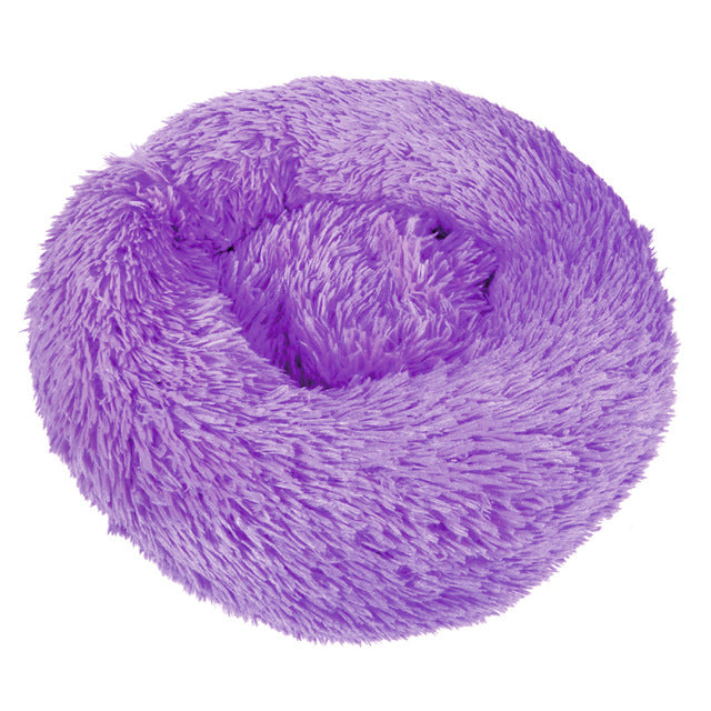Comfy Calming Dog/Cat Bed Round Super Soft Plush Nest Beds S/M/L