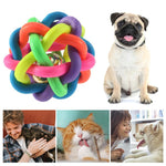 Colorful ball Cat/Small or Medium Dog with Bell Sizes Small & Medium