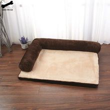 Load image into Gallery viewer, Dog/Cat Bed soft Cushion L Shaped Square Pillow, Machine Washable Cover, and Detachable Mat Sizes S-L