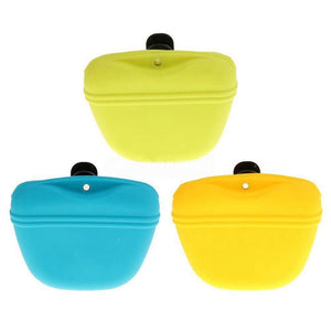 Pets Dog Silicone Treat Bag - Pocket Food Snack Pouch Waist Bag for Outdoor Pet Training Bags