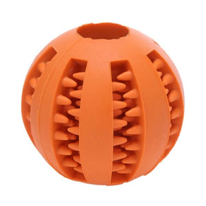 Dog Pet Molar Bite Toys Rubber Chew Ball Cleaning Teeth Safe Elasticity Soft Puppy Suction Cup Dog Biting Toy