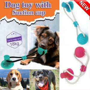 Pet Toys Multifunction Molar Rubber Chew Ball Cleaning Teeth Safe Elasticity Soft Puppy Suction Cup Dog Biting