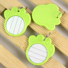 Load image into Gallery viewer, Dog or Cat Small Pet Identity Tag Fluorescent Plastic Pet Tag