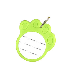 Dog or Cat Small Pet Identity Tag Fluorescent Plastic Pet Tag