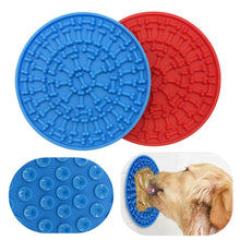 Load image into Gallery viewer, Silicone Dog Feeding Lick Mat /Bowl For Bath Distraction Easy Grooming Dog