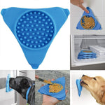 Dog/Cat Pet Bath Treater Wall Mounted Dispensing Cup Silicone Lick Distract Mat Training Bathing