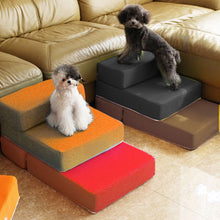 Load image into Gallery viewer, Dog/Cat Breathable Mesh Foldable Pet Stairs Detachable Pet Stairs Dog Ramp 2 Steps