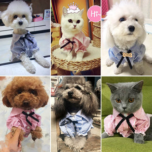 Dog/Cat Pet Clothes Striped Spring/Summer Fashion Puppy/Kitten Shirts