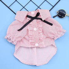 Load image into Gallery viewer, Dog/Cat Pet Clothes Striped Spring/Summer Fashion Puppy/Kitten Shirts