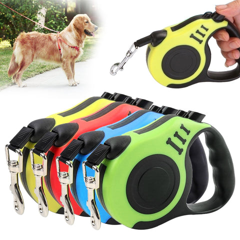 3M/9.8FT 5M/16.4FT  Retractable Dog Leash Automatic Flexible Dog/Puppy Traction Leash