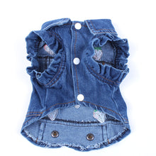 Load image into Gallery viewer, Pet Dog/Cat Jeans Jacket Strawberry Blue Denim Coat Vest Pet Puppy Clothes Apparel 6 sizes