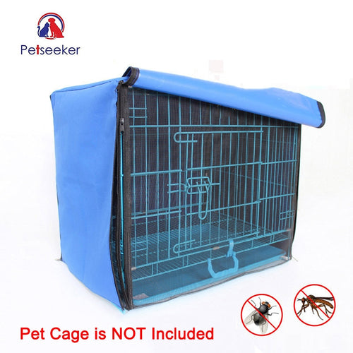 Dog/Cat Cage Cover Foldable Anti-mosquito Tent Waterproof Oxford with Crate Cover Sizes S/M/L/XL