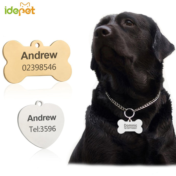 Dog/Cat Tag Engraved Collar Dog ID Tag Name and Phone