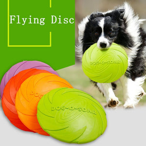 Interactive Dog Chew Toys Resistance Bite Soft Rubber Puppy Pet Toy for Training Products Dog Flying Discs