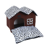 Pet House Fold-able Bed With Mat Soft Dog/Puppy/Cat/Kitten Sofa Cushion House Kennel