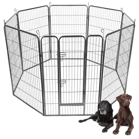 "40"" 8 Panel Metal Pet Puppy Dog Kennel Fence Playpen"