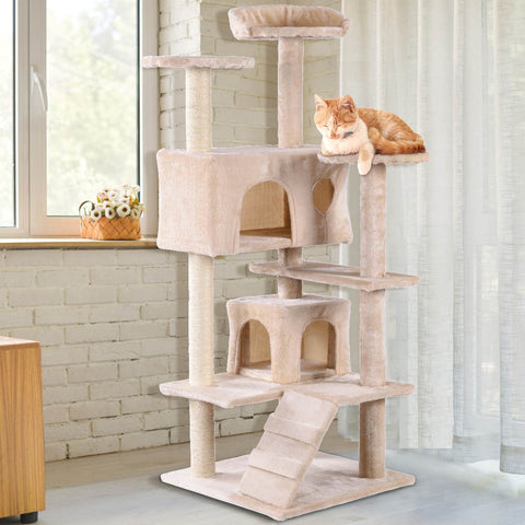 "52"" Cat Scratching Post and Ladder Kitten Tower Tree"