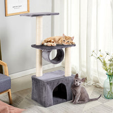 "Load image into Gallery viewer, 37"" Cat Tree Condo Kitten Pet House with Scratch Post"