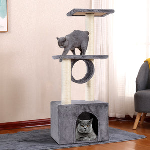 "37"" Cat Tree Condo Kitten Pet House with Scratch Post"