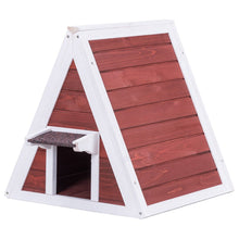 Load image into Gallery viewer, Weatherproof Wooden Cat House Furniture Shelter with Eave