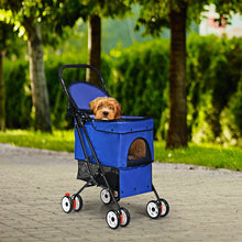 Load image into Gallery viewer, Pet Foldable Cage Stroller For Cats And Dogs