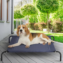 Load image into Gallery viewer, Large Indoor Outdoor Camping Steel Frame Elevated Pet Cot Mat