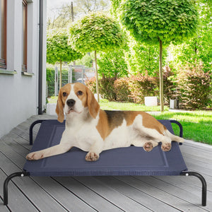 Large Indoor Outdoor Camping Steel Frame Elevated Pet Cot Mat