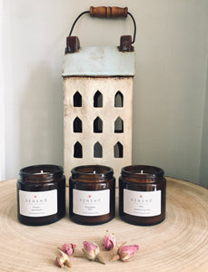 Candle Gift Set, 3 Candles, Peace, Spring Blossom & Tranquility