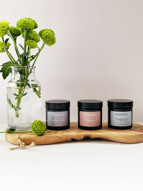 Wellness Candle Gift Set English Lavender, Happiness & Beautiful Soul
