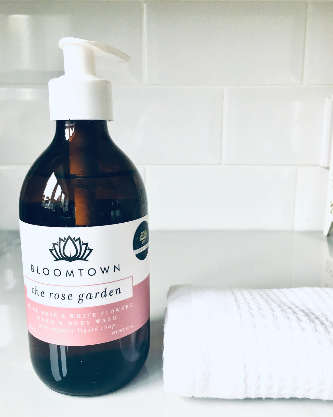 The Rose Garden Musk Rose & White Flowers Garden Body Wash