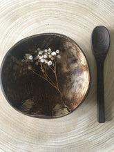 Load image into Gallery viewer, Leaf Coconut Bowl with Wooden Spoon