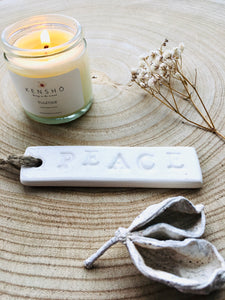 Peace Ceramic Tag