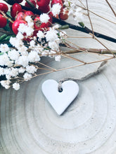 Load image into Gallery viewer, White Ceramic Heart