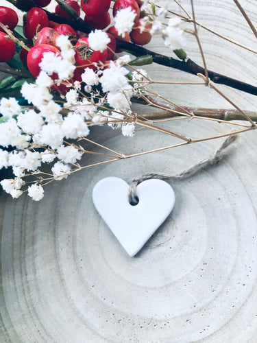 White Ceramic Heart
