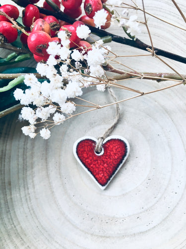 Ceramic Red Heart