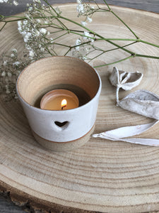 Ceramic Heart Tea Light Holder