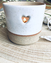 Load image into Gallery viewer, 5 Large Soy Wax Tea Lights with Essential Oils & Heart Tea light Holder