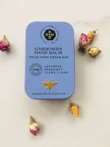 Eco friendly, Gardeners hand cream with Lavender, Bergamot and Ylang Ylang essential oils.