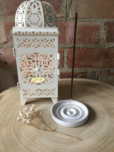 Load image into Gallery viewer, Hand Made Fully Glazed White Ceramic Incense Holder