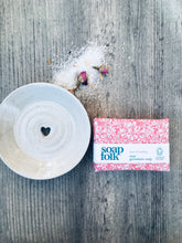 Load image into Gallery viewer, Ivory Ceramic Soap Dish & Rose Geranium Handmade Soap Gift