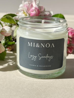 Lazy Sunday Soy Wax Candle Gift