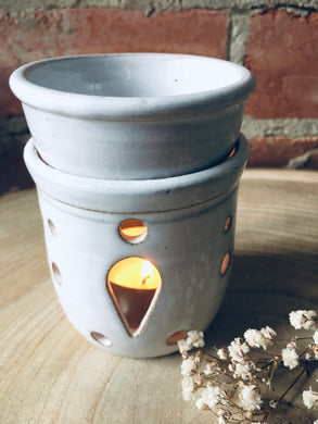 Stoneware Ceramic Incense Oil Burner/ Wax Melt Burner