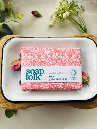 Handmade Natural Rose Geranium Soap